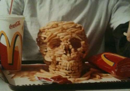 French Fries Skull