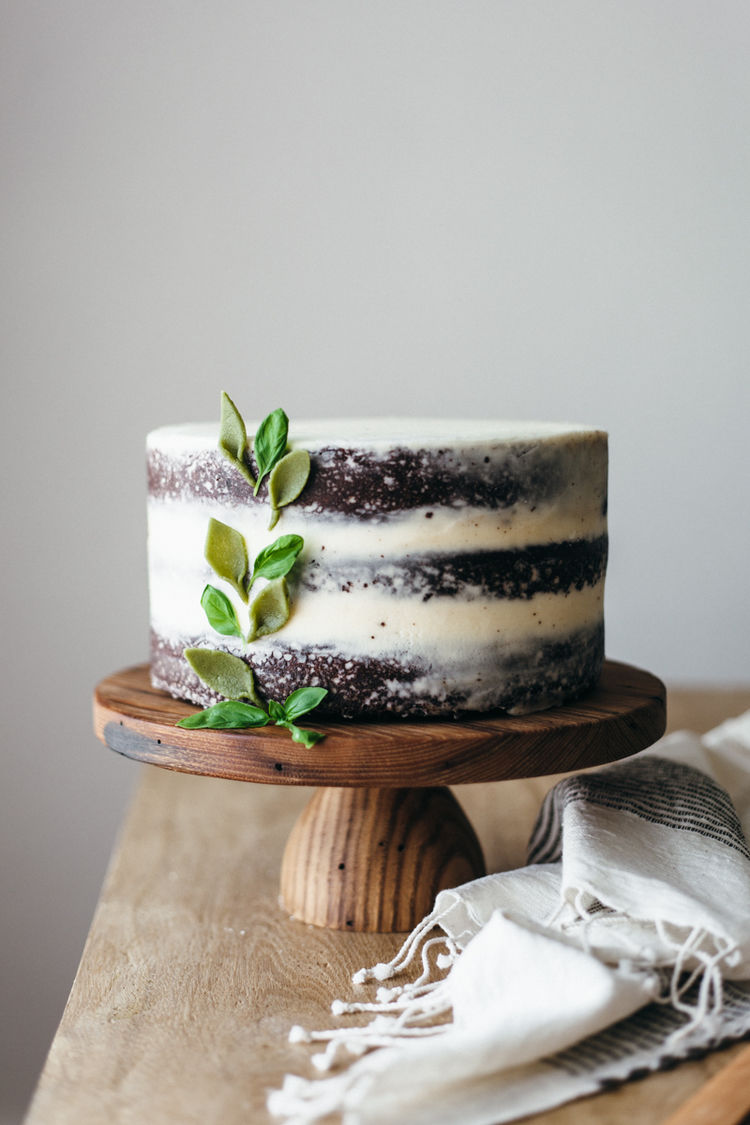 Herb-Infused Chocolate Cakes