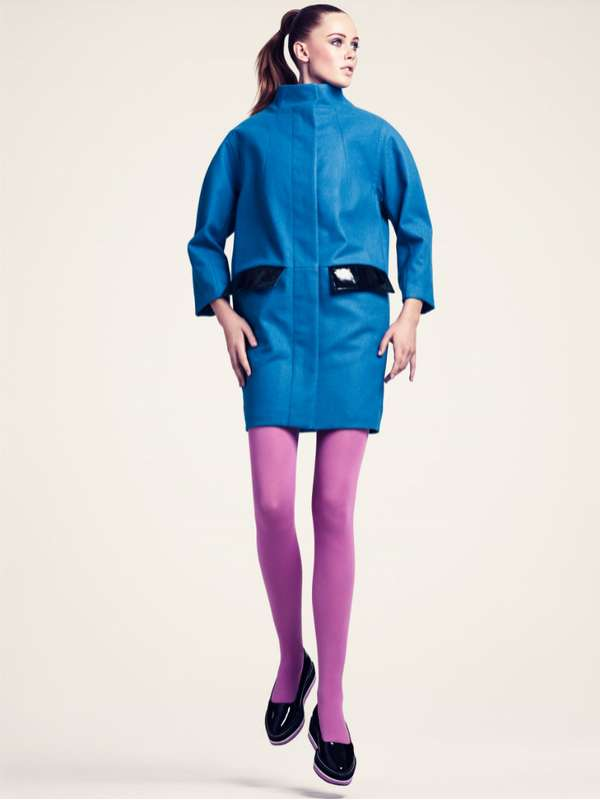Frosty Color-Block Fashion