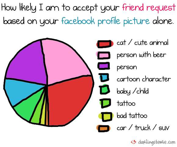 Friend Request Pie Chart