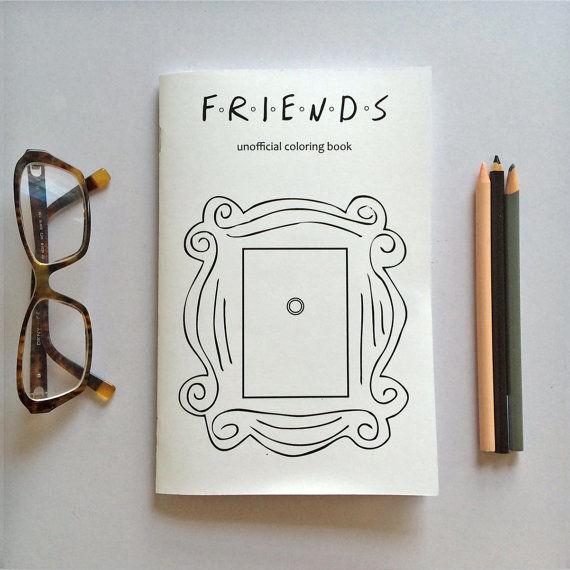 Nostalgic Tv Coloring Books Friends Coloring Book