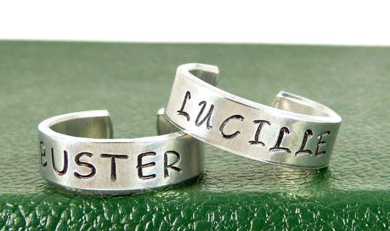 Sitcom-Inspired Friendship Rings