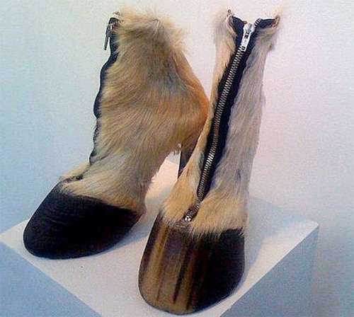 Frightening Furry Footwear