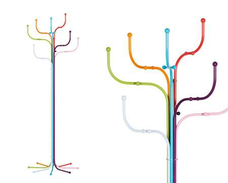 Funky Coat Hangers tube-inspired coat racks : fritz hansen coat tree
