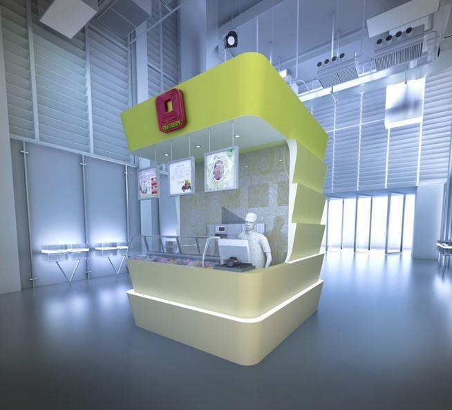 Futuristic Froyo Kiosks