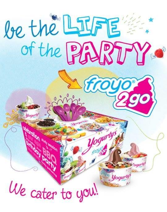 Frozen Yogurt Catering Boxes