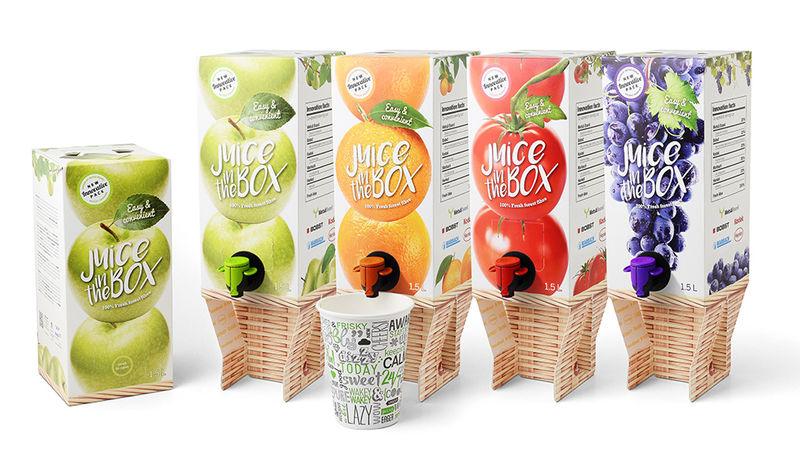 Spouted Juice Boxes