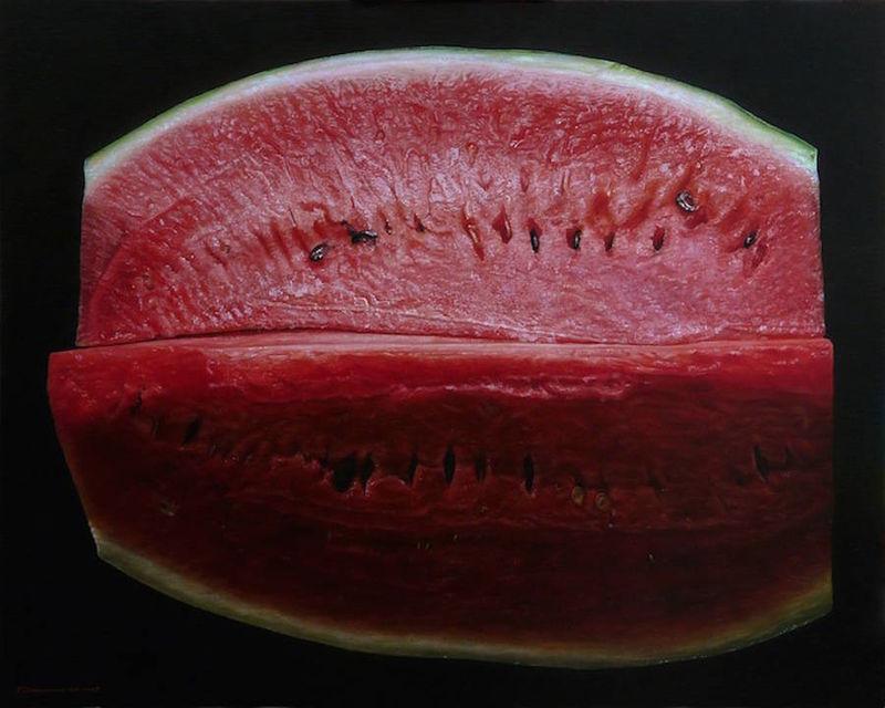 Photorealistic Fruit Paintings