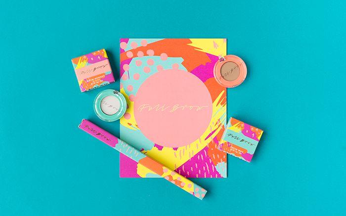 Chromatic 80s Makeup Branding