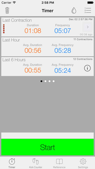 Contraction-Timing Apps