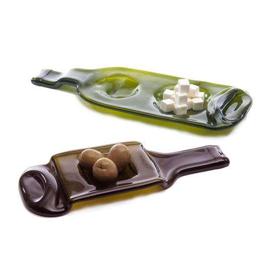 Melted Recycled Bottle Dishes