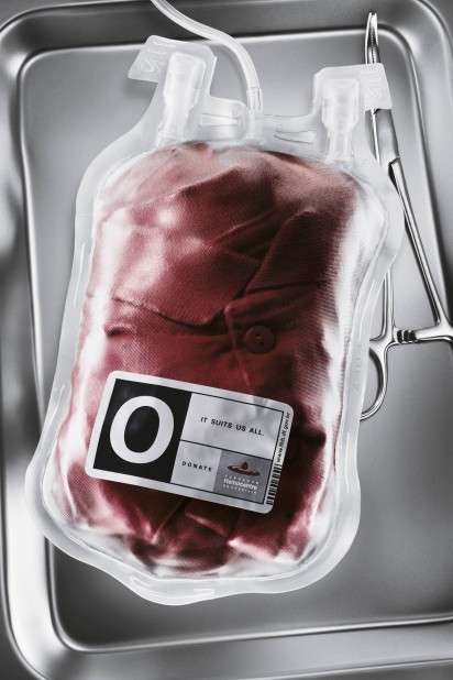Sweater-Filled Blood Bag Ads