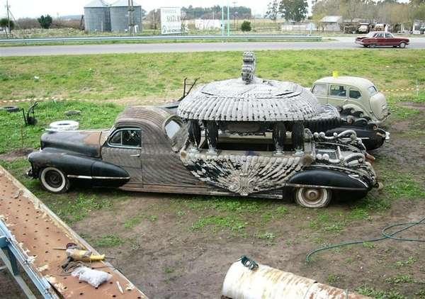 Wooden Funeral Cadillacs