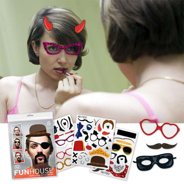 Fun Portrait Mirror Decals