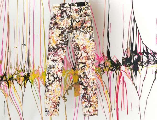 Paint-Splattered Printed Fashion