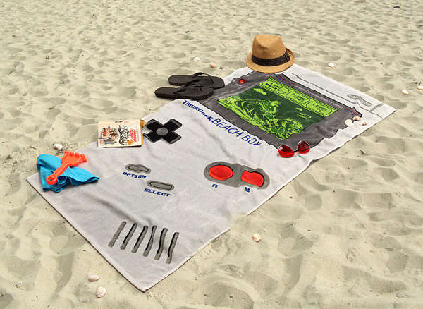 Retro Gamer Beach Towels