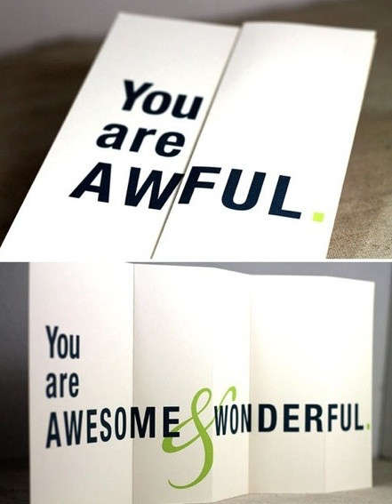 Trick Message Greeting Cards