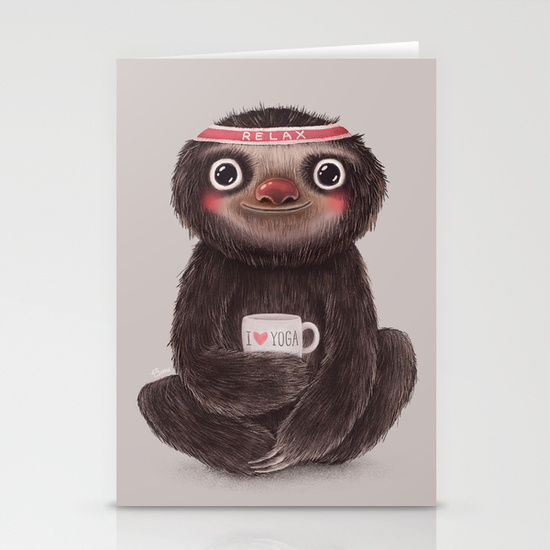 Contented Sloth Cards : funny mother's day card