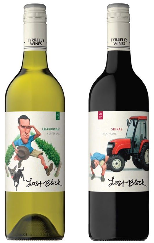 Caricaturistic Wine Bottles