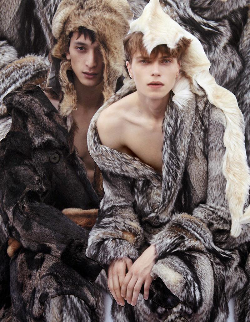 Fur-Clad Menswear Editorials