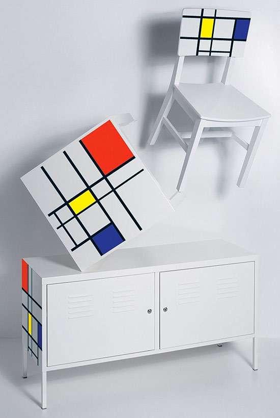 Interchangable furnishing decals furniture stickers - Stickers per mobili ...