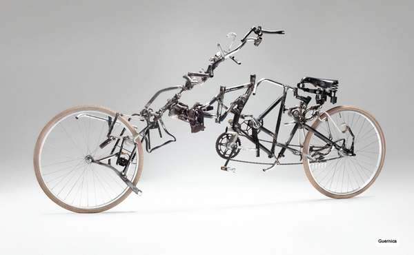 Warped Bicycle Sculptures