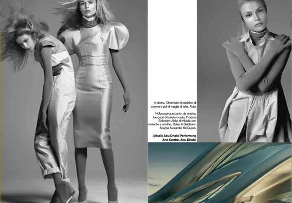 Space-Age Fashion Photography