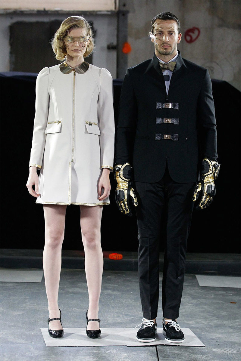 Futuristic Fashion Model Royalty Free Stock Photos: Dapper Cyborg Runways : Futuristic Fashion Design