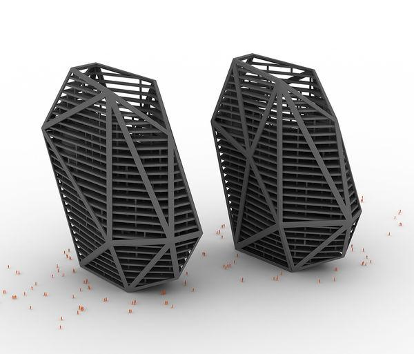 3D Skyscraper Heels