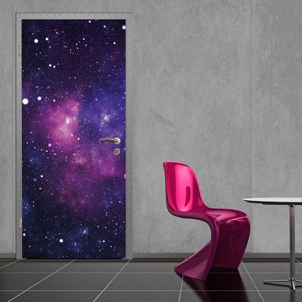 galaxy door sticker