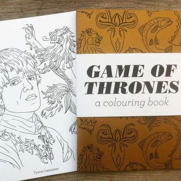 Fantasy Phenomenon Coloring Books Game Of Thrones
