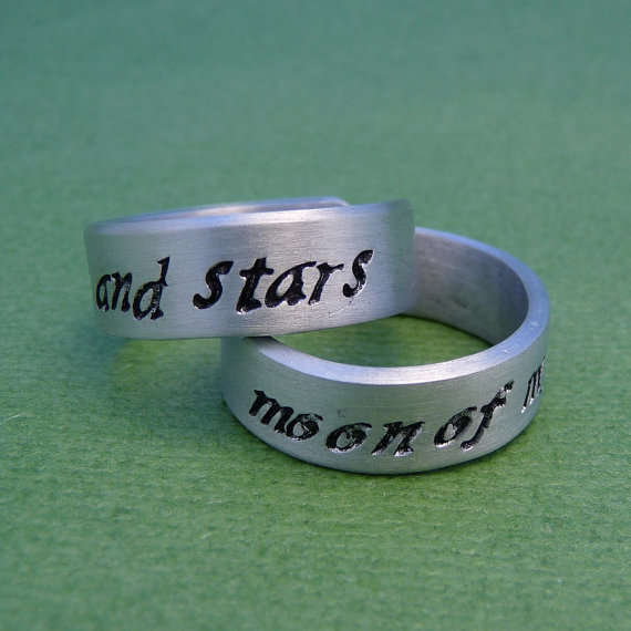 Fantasy Book Wedding Bands