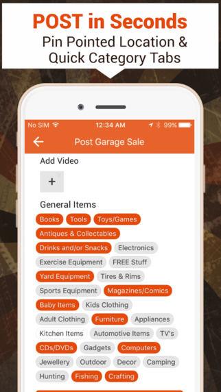 Localized Garage Sale Apps