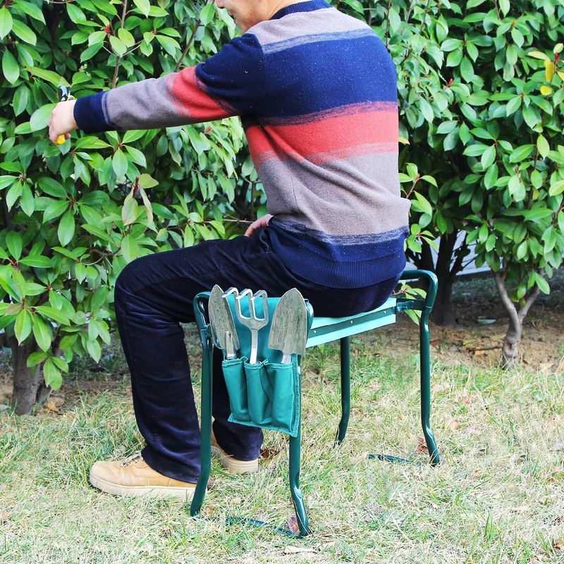 Dual purpose gardening chairs garden seat for Gardening tools for the elderly