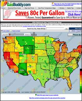 Gas Price Maps