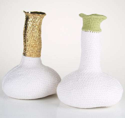 Textured Porcelain Vases