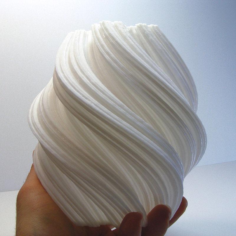 Spiral 3D-Printed Vases