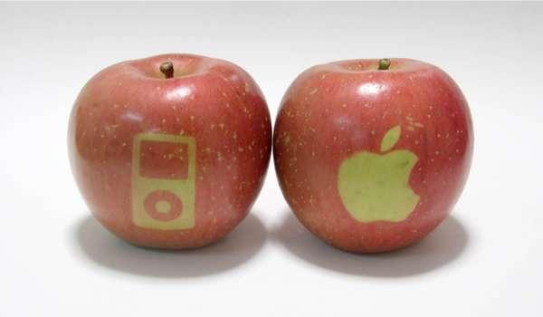 Geek Stenciled Fruit