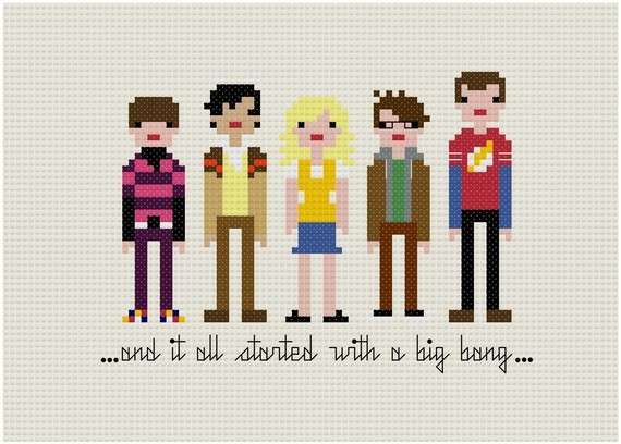 Geek, Nerd, Cool, Bizarre, Cross Stitch, Art