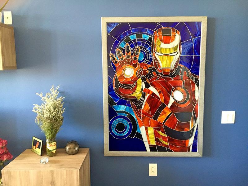 Stained Glass Superhero Art Superhero Art