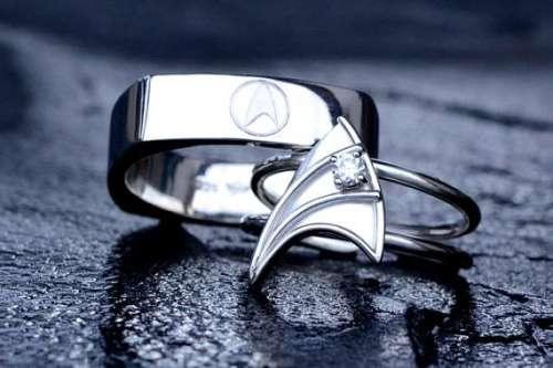 Geeky Nuptial Bands geek wedding rings
