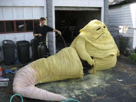 Geeky Green Gremlins: Use the Force to Create Your ... Jabba The Hutt Costume For Dogs