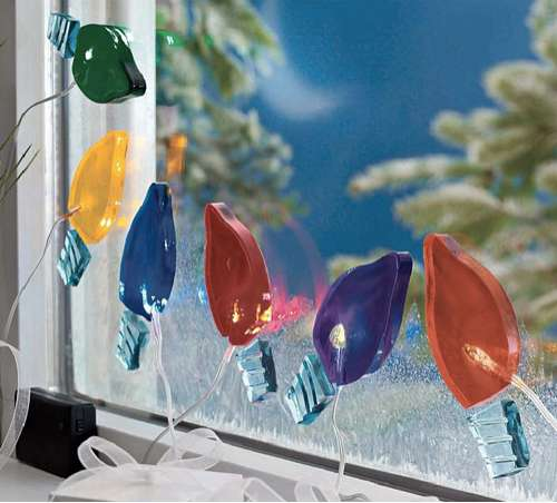 Sticky Holiday Decor : Gel Gem Christmas Lights