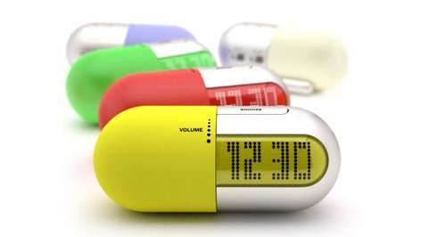 Pill Shaped Radio Clock