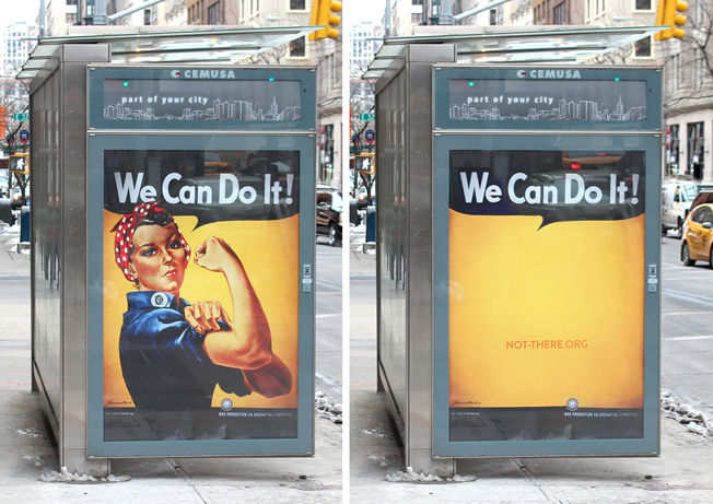 Striking Womanless Ads