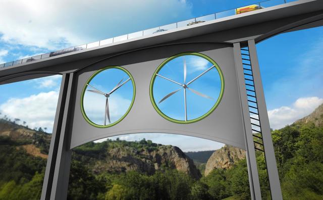 Wind-Powered Bridges