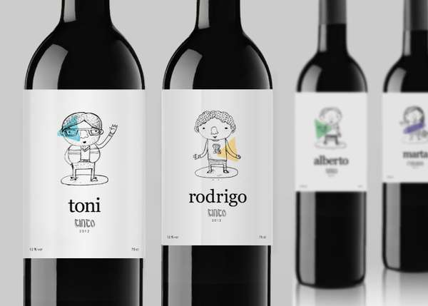 Cartoony Liquor Labels