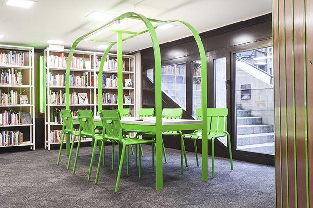 Retro-Modern Library Decor