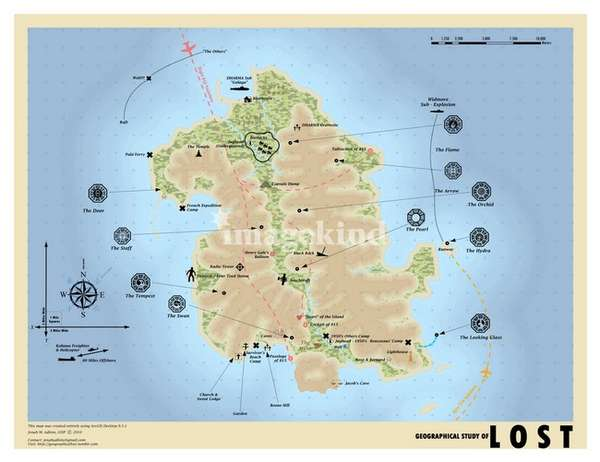 Fictional TV-Inspired Maps