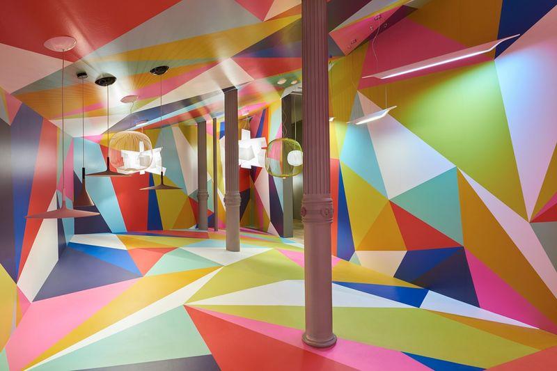 Geometric Art Installations